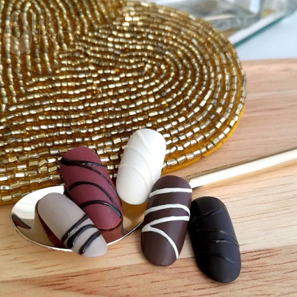 チョコレートネイルサンプル♪